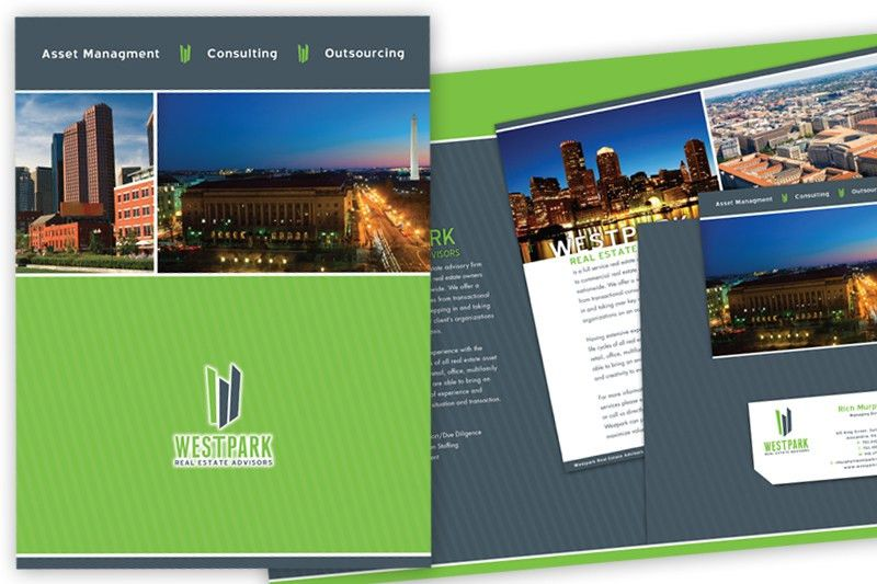 West Park Real Estate Advisors Folder & Brochure | Stage2Marketing