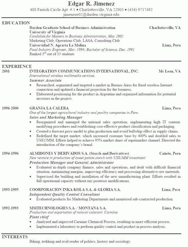 Example Of The Perfect Resume | Resume Examples 2017