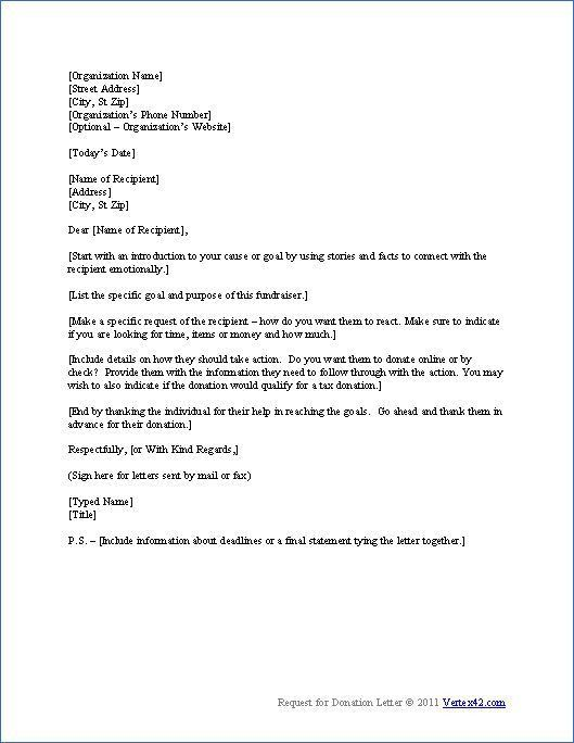 Sample Donation Request Letter Template Perplexed thinking why in ...
