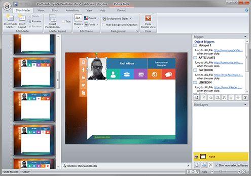 E-Learning Portfolio Template for Articulate Storyline - E ...