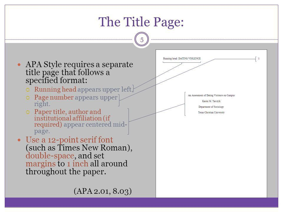 APA STYLE Some basic elements - ppt video online download
