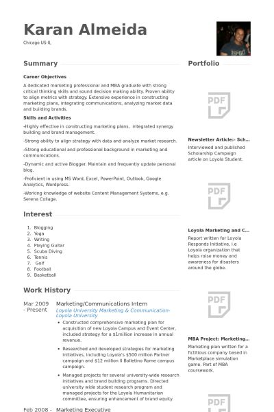 Communications Intern Resume samples - VisualCV resume samples ...