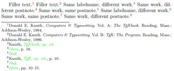 citing - biblatex: strictly identical footnote citations following ...