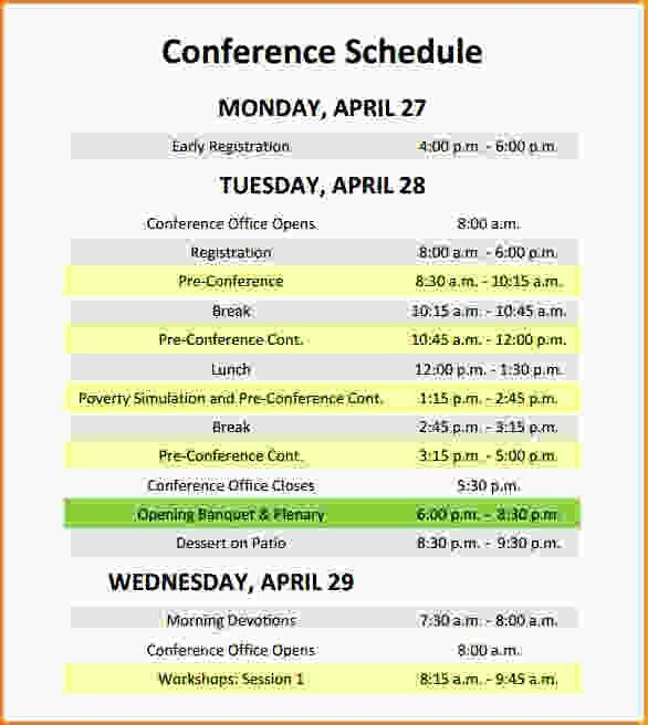 Event Itinerary Template.Conference Schedule Template.jpg - Loan ...