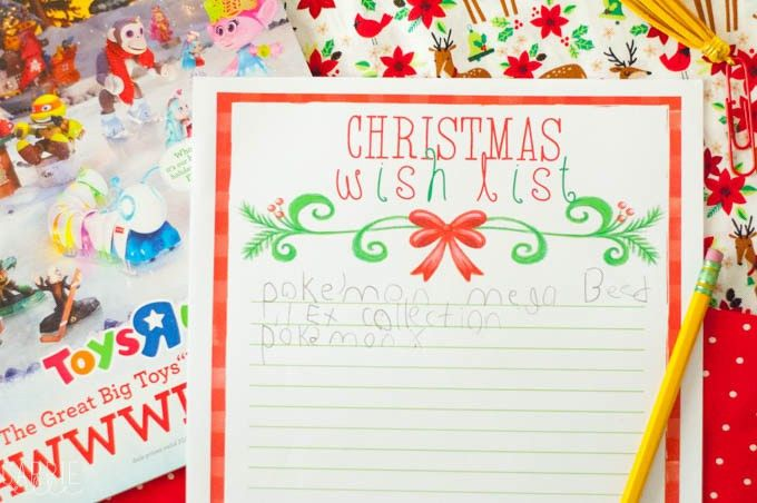 Printable Christmas Wish List - Carrie Elle
