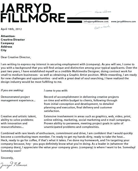 Graphic Designer Cover Letter. For Resume Database Design Letters ...