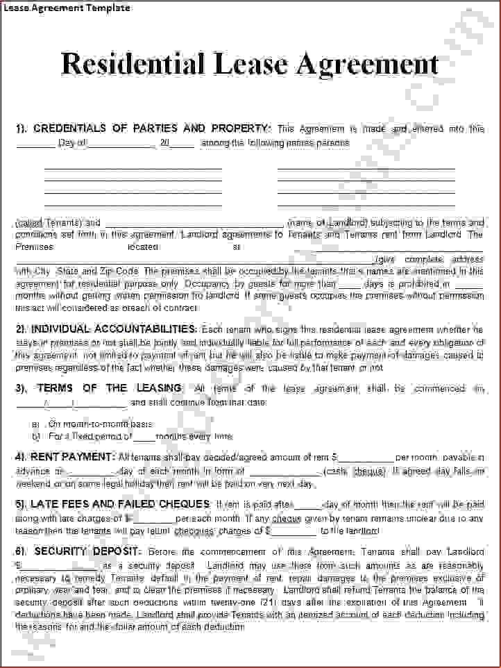 6+ free lease agreement template wordReport Template Document ...