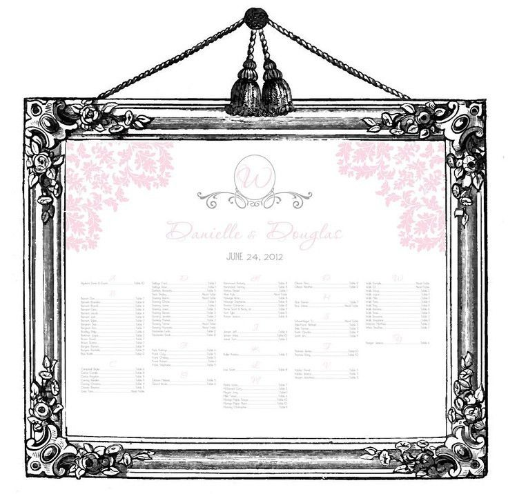 24 best seating chart images on Pinterest | Wedding reception ...