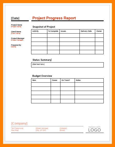 11+ progress report format | addressing letter