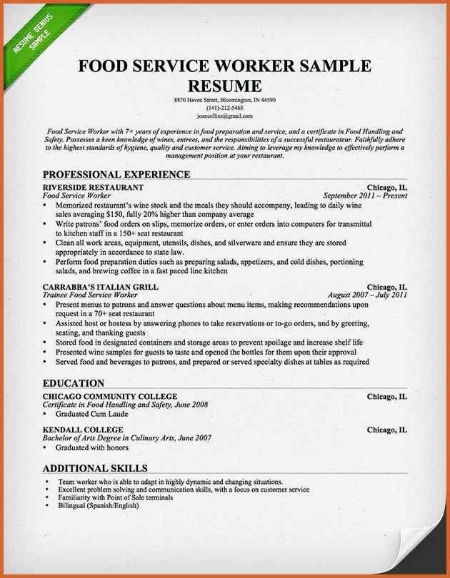 Resume For Restaurantresume restaurant manager resume template ...