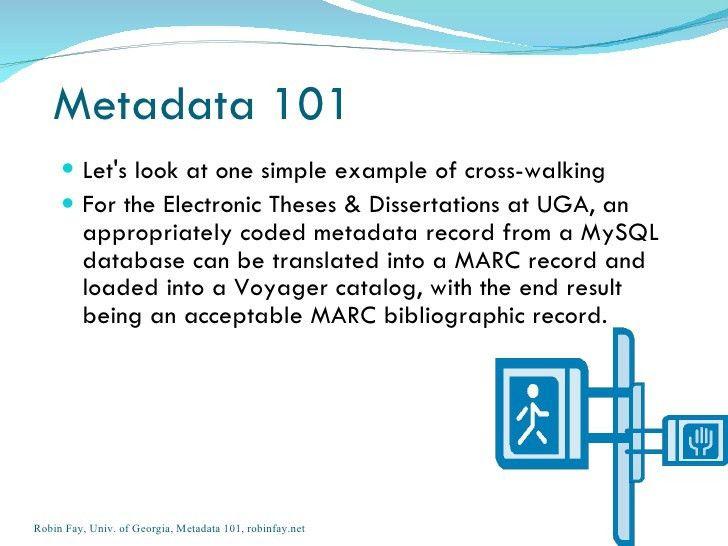 Metadata an overview