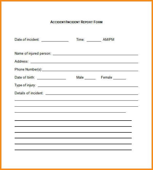 10+ incident report form template word | workout spreadsheet