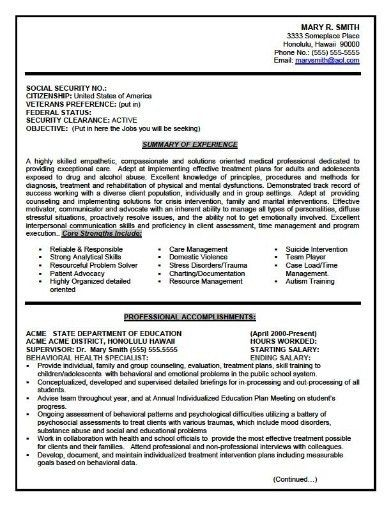 Professional Government Resume Samples Templates. Government Job .