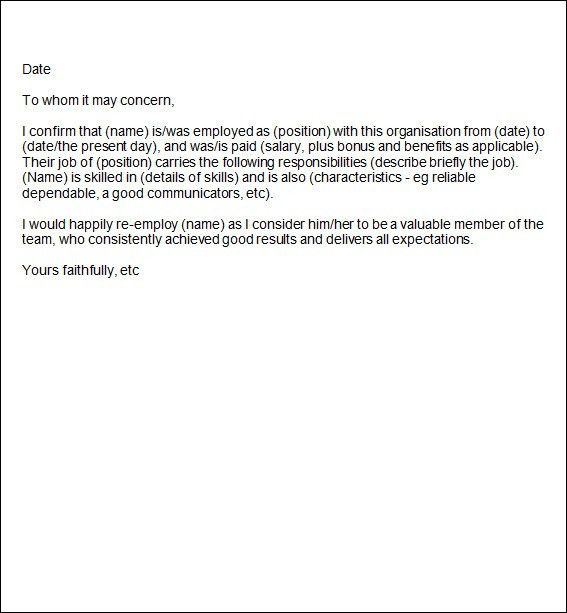 Brilliant Ideas of How To Format A Job Reference Letter For Resume ...