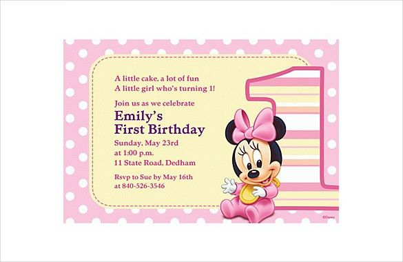 23+ Minnie Mouse Birthday Invitation Templates – Free Sample ...