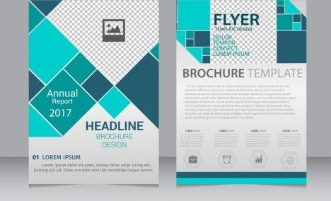 Brown vector annual report brochure template design vectors stock ...
