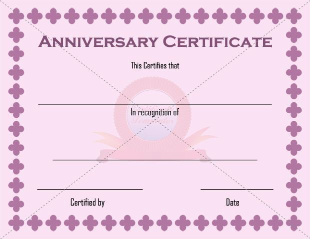 Anniversary Certificate Images - Reverse Search