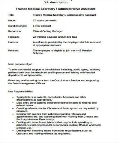 secretary cover letter receptionist resume secretary resume ...