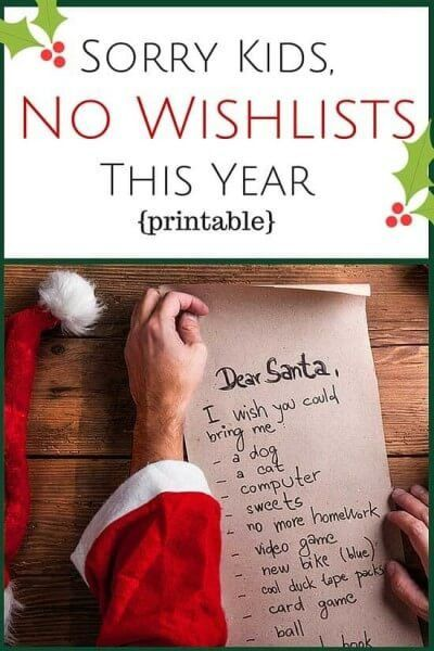 Sorry Kids, No Christmas Wish Lists This Year