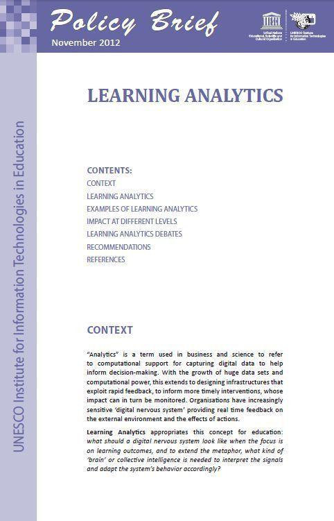 UNESCO IITE | E-library | Learning Analytics