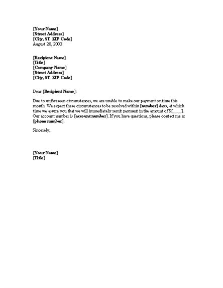 Notice About The Late Payment Letter Template | Professional ...