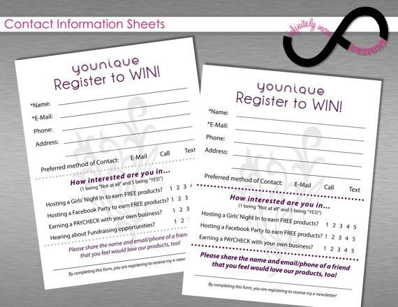 Contact Information / Register to Win Form by InfinitelyMore ...