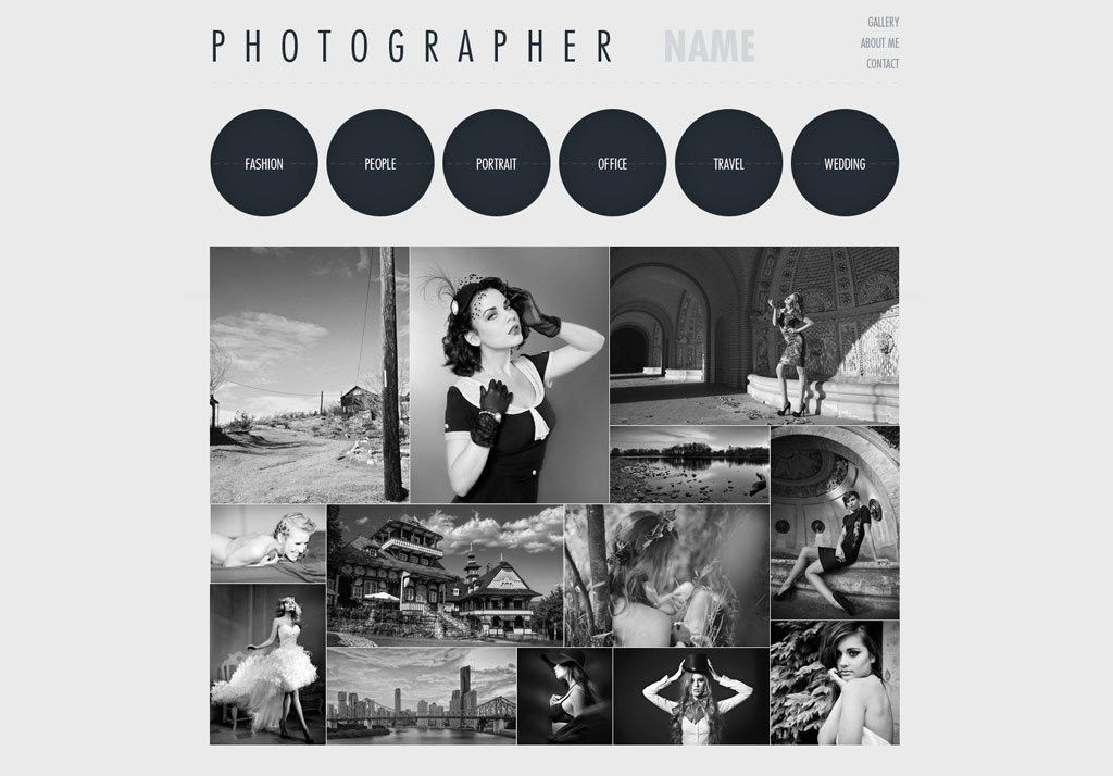 Free Photography Website Templates | PHPJabbers