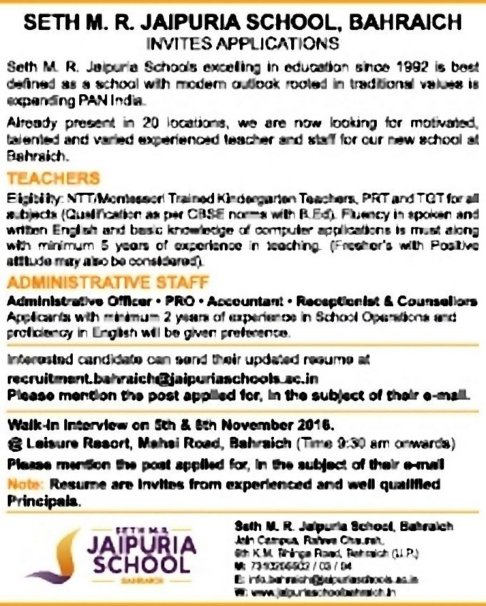 Job - Teachers - Uttar Pradesh - Learning & Library - TimesAscent.com