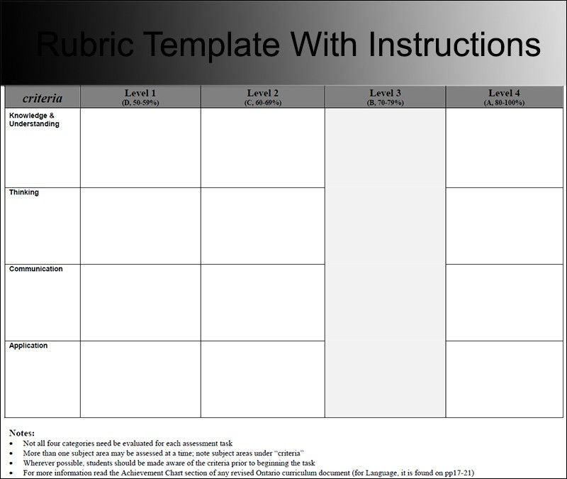 Rubric Templates – Free PDF, Word, Excel Format Download ...