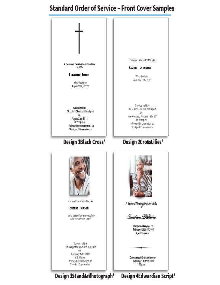 Order of Service Brochure - In-Memoriam Cards Free Download