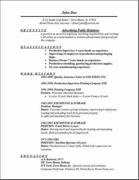 Advertising Public Relations Resume, Occupational:examples,samples ...