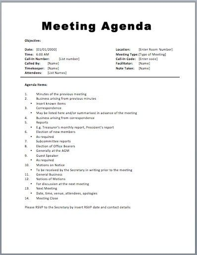 Board Meeting Agenda Samples. Board Meeting Agenda Template Word ...