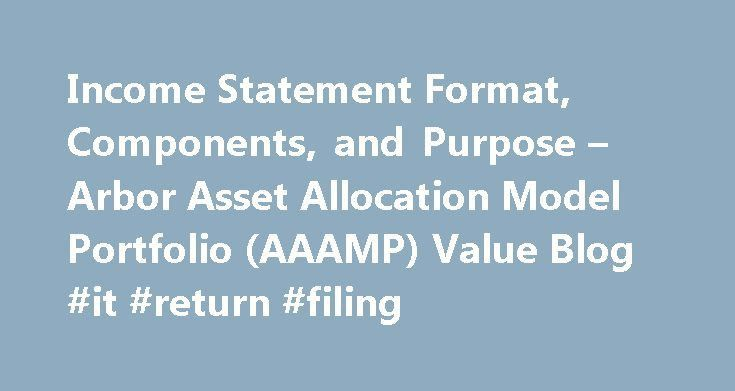 Income Statement Format, Components, and Purpose – Arbor Asset ...