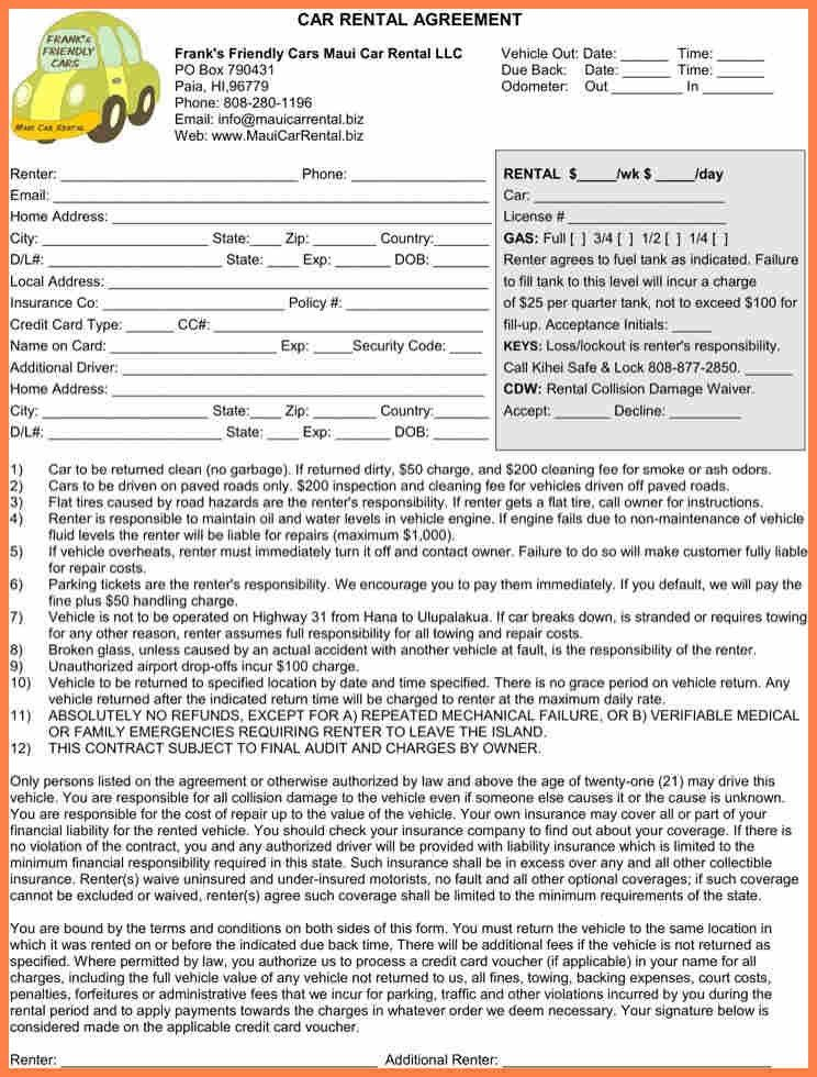 Car Leasing Agreement Template - Contegri.com