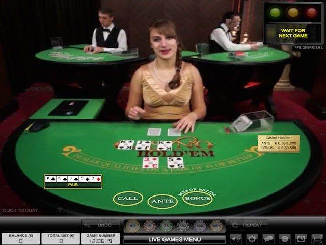 Live Dealer Mobile Casino Hold'Em - CasinoTopsOnline.com