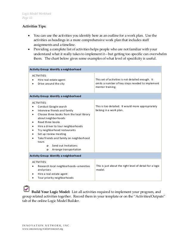 Logic Model Workbook