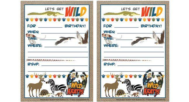 Wild Kratts Birthday Printables . Birthday Party . PBS Parents   PBS