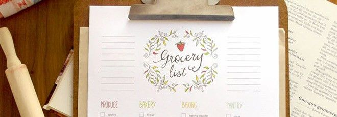 Free Editable Grocery List {Printable PDF}