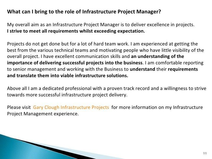 Infrastructure Project Manager