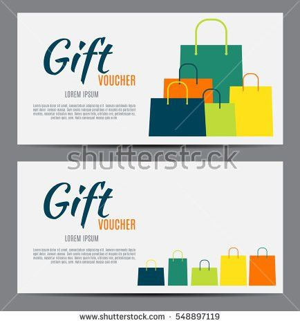 Gift Voucher Template Your Business Vector Stock Vector 548897119 ...