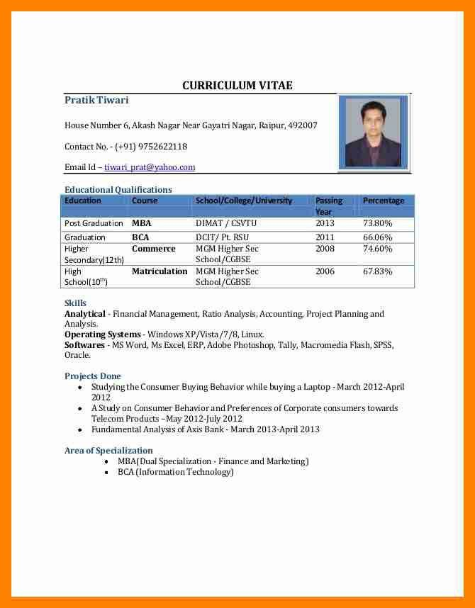 best resume format for fresher free download resume template for