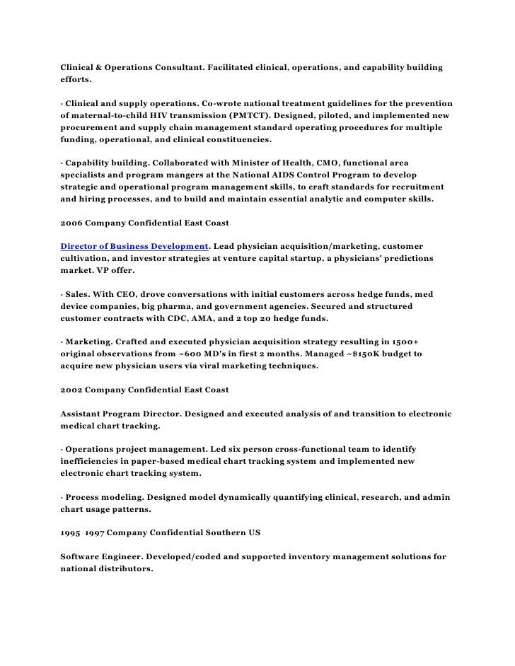 Resume CV Harvard M.D. and MBA Physician Healthcare Strategic Operati…