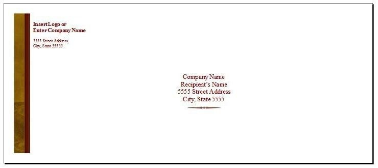 Envelope Label Template | rubybursa.com