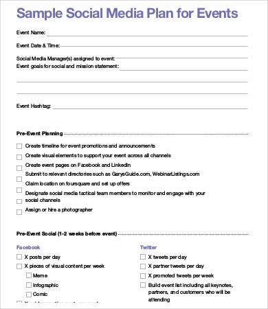 Social Media Plan Template. Through Monthly Newsletter; 5 Set Up ...