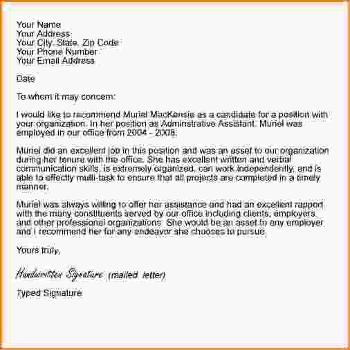 How To Format A Letter Of Recommendation.letter Of Recommendation ...