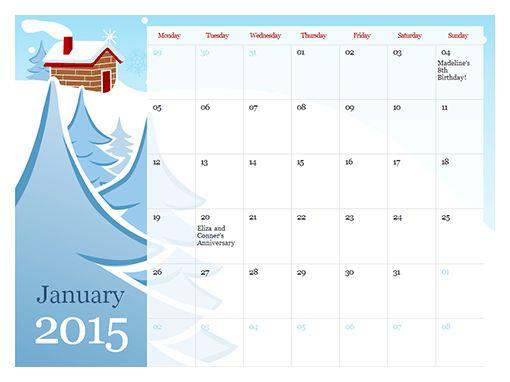 2016 Mon Sun Calendar Editable Calendar Template | Blank Calendar ...