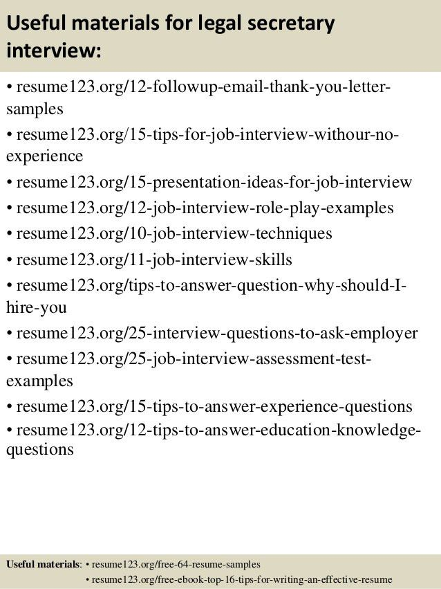 legal secretary resume. 14 useful materials for legal secretary ...
