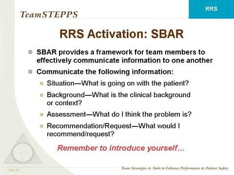 TeamSTEPPS Rapid Response Systems Module | Agency for Healthcare ...