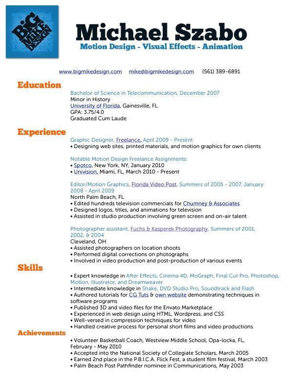 My Resume - Free Job Cv Example