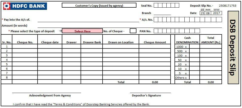 3+ Bank Deposit Slip Template Excel, Word And PDF - Excel Tmp